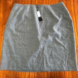 Talbots Gray Pencil Skirt Plus Size 16WP
